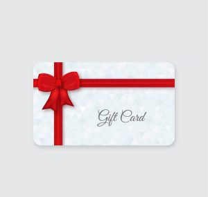Gift card of shopping website